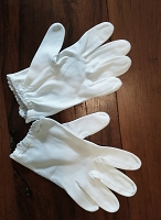 Vintage Ladies Short Cotton Gloves
