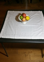 Vintage Linen Table Topper 28x29