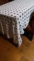 Large Crochet Tablecloth 114 x 60