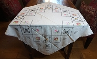 Cross Stitch Table Cloth or Topper 40x40