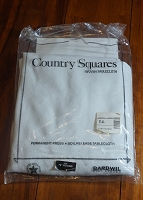 Country Squares 70in Round Tablecloth, New