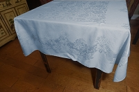 Blue Damask Tablecloth 50x50