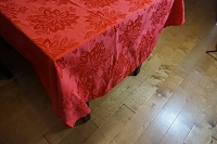Red Poinsettia Tablecloth 102x60 Oval