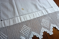 Antique Linen Bath Towel