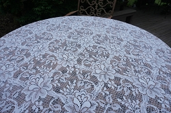 Round White Lace Tablecloth 48inch