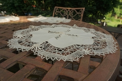 Round Linen and Lace Placemats