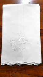 Pair Fingertip Embroidered Towels