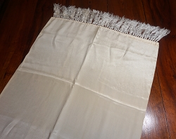 Ivory Silk Runner or Scarf