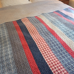 Patriotic Twin Bed Quilt