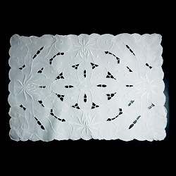 White on White Madeira Placemats