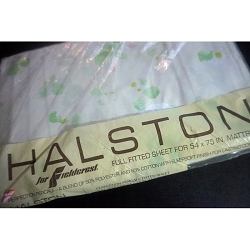 Vintage Halston Full Size Fitted Sheet