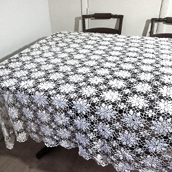 Snowflake Crocheted Tablecloth