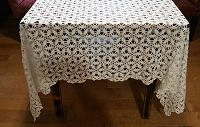 Vintage Snowflake Crochet Tablecloth