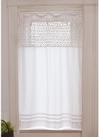 Crochet Pearl Curtain Panel