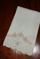 Peach Flowers Fingertip Towel
