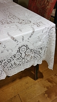 Vintage Lace Tablecloth 76 x 54