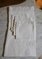 Linen Card Table Tablecloth with 4 Napkins