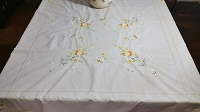 Embroidered Tablecloth 40 x 40