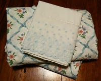 Twin Sheet Set. Blue, Pink & Purple
