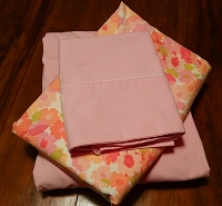 Vintage 1960's Pink Twin Sheet Set