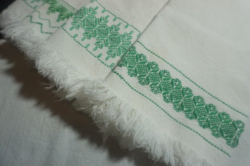 5 Vintage Swedish Weaving Dish Towels