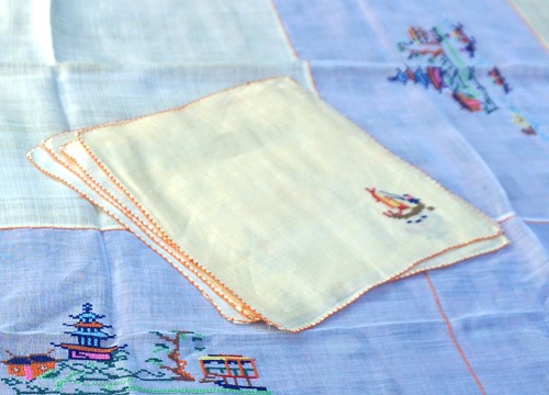 Asian Theme Embroidered Tablecloth
