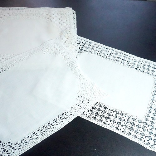 Coordinating White Linen Placemats