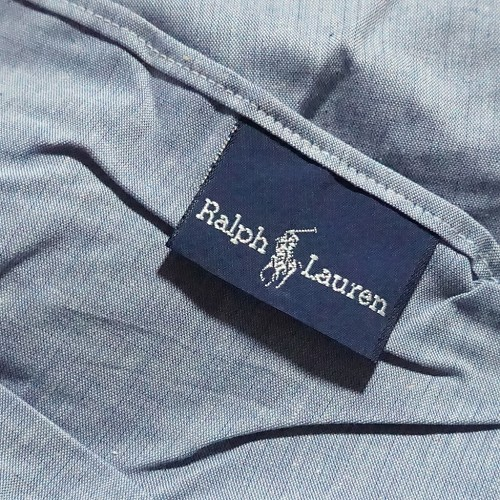 Ralph Lauren Blue Chambray Full Bed Skirt