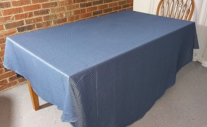 "90"" Round Blue Tablecloth"