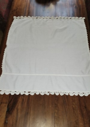 Dish Towel with Crochet Lace Edges