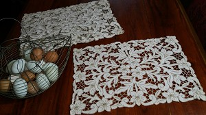 Exquisite Set of 4 Madeira Placemats