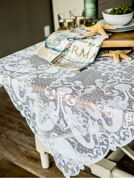 Mermaids Lace Table Topper
