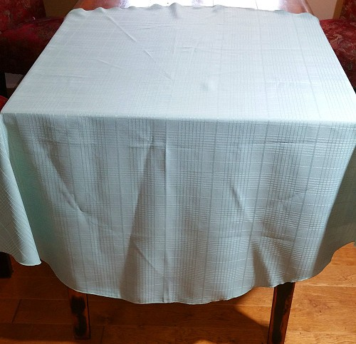 Mint Green Round Tablecloth 50""