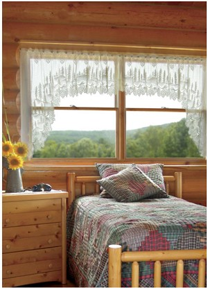 Pine Cone Lace Curtain Swags
